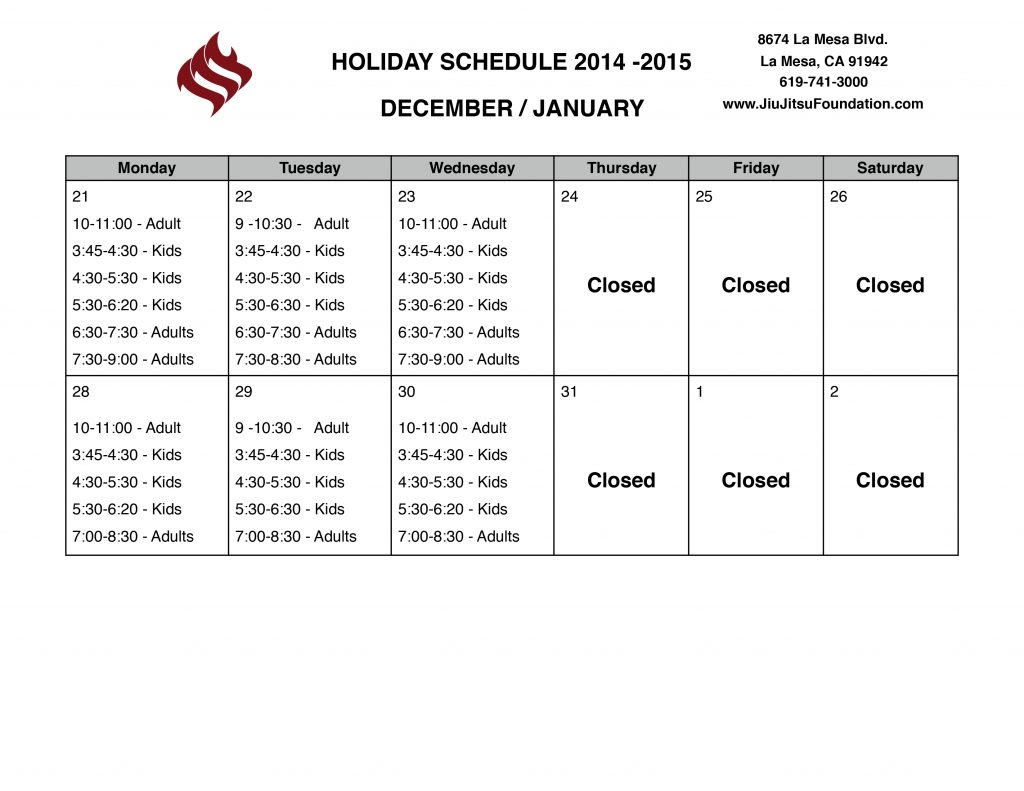 2015---2016-Holiday-Schedule